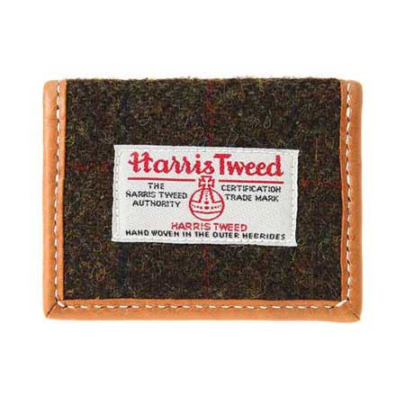 Harris Tweed Cardcase Brwn