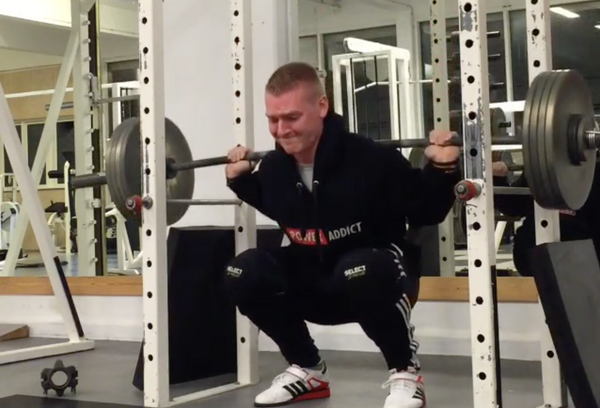 Heavy back squat