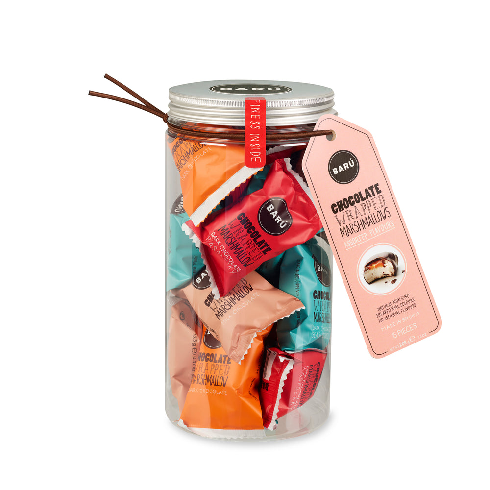 Barú Chocolate Marshmallows Assorted Flavours In Gift Jar 208 gr.