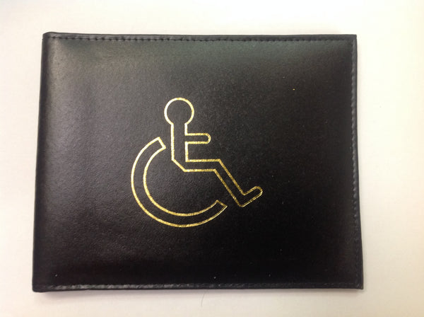 Black disability badge holder misc