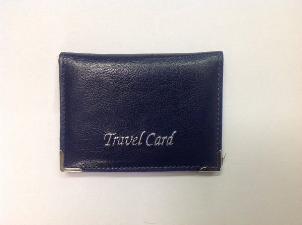 Blue travel card holder misc