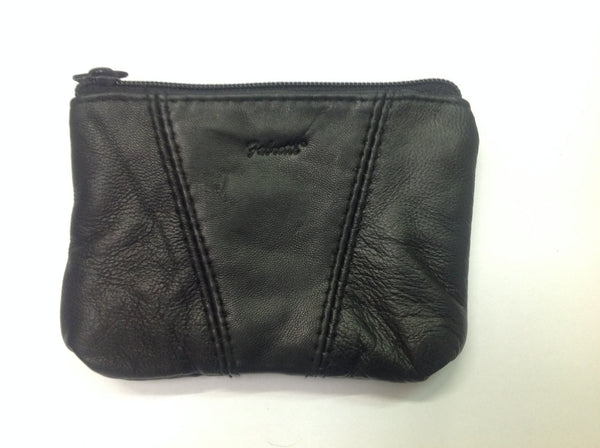 Black leather pouch misc