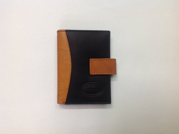 Black & brown leather wallet misc