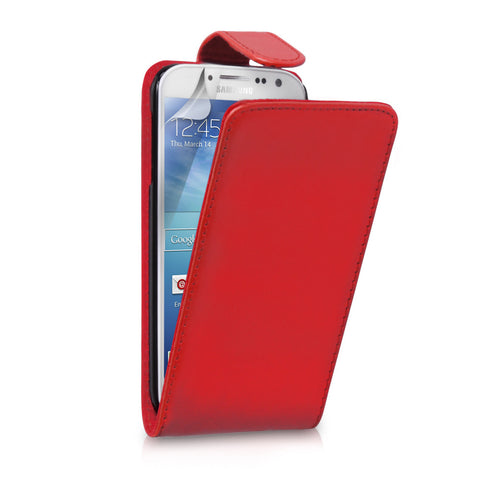 Samsung Galaxy S4 Flip Leather - Red | Free Shipping