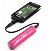 Veho Pebble Smartstick portable battery, 2200mah - Pink