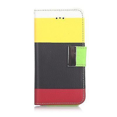 Samsung Galaxy S4 Triple Colour Flip Case - Yellow | Free Shipping