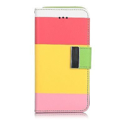 Samsung Galaxy S4 Triple Colour Flip Case - Pink | Free Shipping