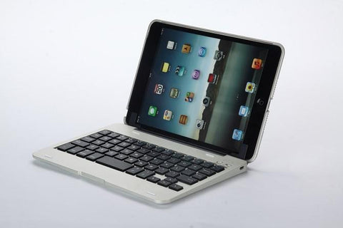 iPad Mini 1 Keyboard Case - Aluminium / Silver | Free Shipping