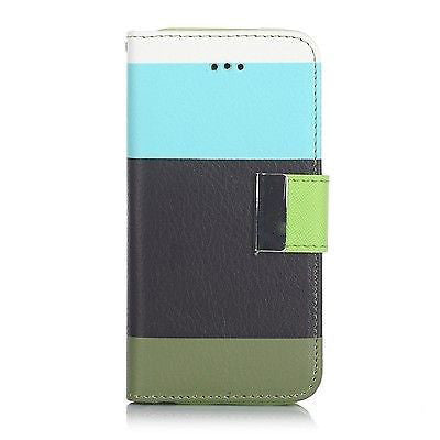 Samsung Galaxy S3 Triple Colour Flip Case - Aqua | Free Shipping