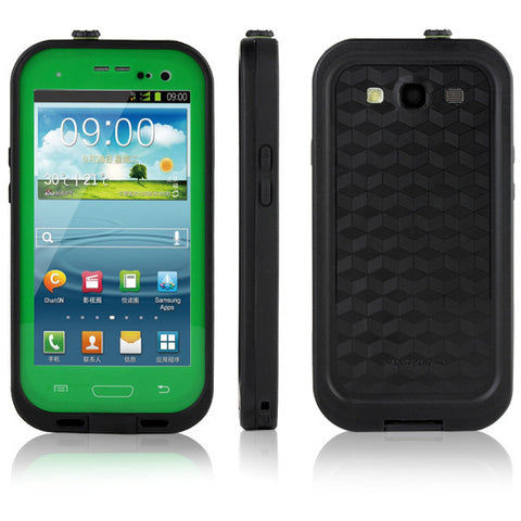 Samsung Galaxy S3 Waterproof Case - Green | Free Shipping