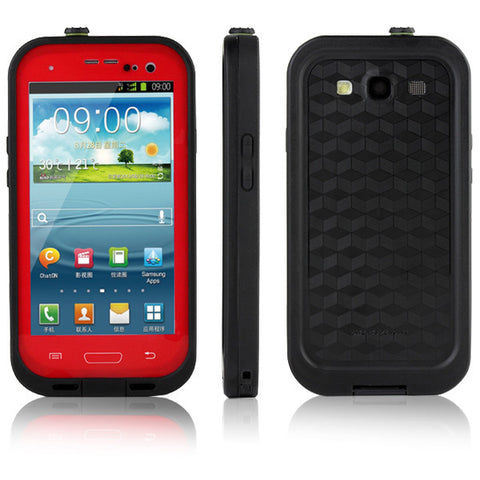 Samsung Galaxy S3 Waterproof Case - Red | Free Shipping