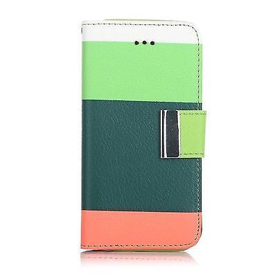 Samsung Galaxy S3 Triple Colour Flip Case - Green | Free Shipping