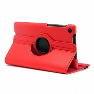 Nexus 7 (2013) - 360 rotating case - red | Free Shipping