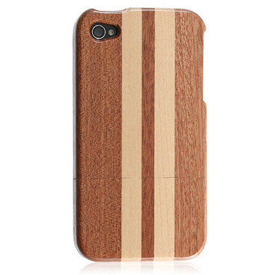 iPhone 4s Bamboo case - Dark Stripe | Free Shipping