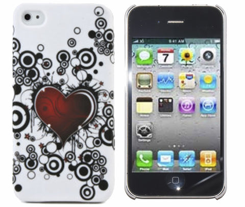 iPhone 4S Case White Heart | Free Shipping