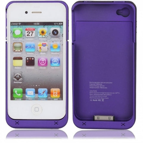 iPhone 4S Battery cover - Purple | Free Shipping