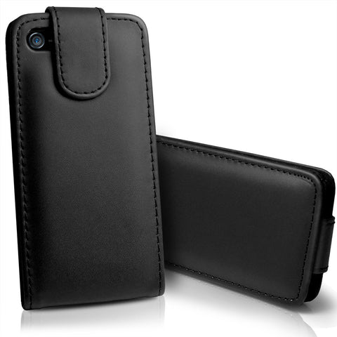 iPhone 5 Flip Leather Case - Black | Free Shipping
