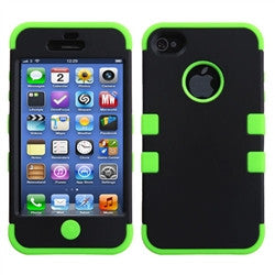 iPhone 5C Dual layer case - Black/green | Free Shipping