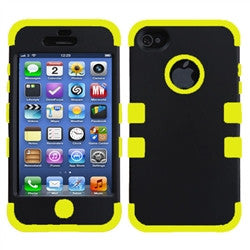 iPhone 5C Dual layer case - Black/yellow | Free Shipping