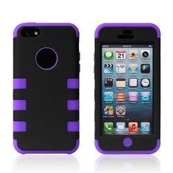 iPhone 5C Dual layer case - Black/purple | Free Shipping