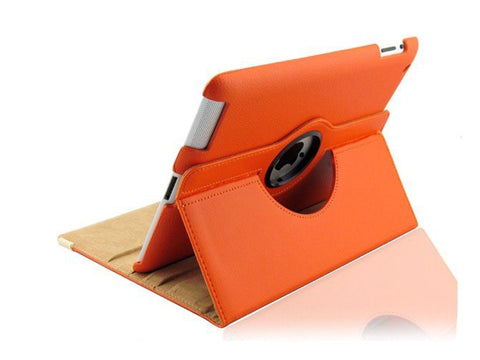 ipad 360 rotating case orange