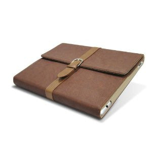 iPad Deluxe Book case - Brown | Free Shipping