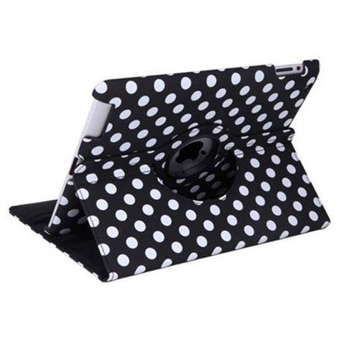 iPad 360 Polka Dot Case - Black | Free Shipping