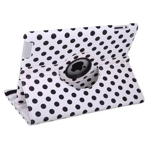 iPad 360 Polka Dot Case - White | Free Shipping