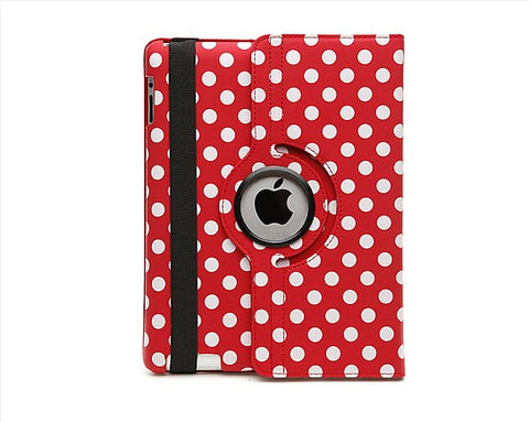 iPad 360 Polka Dot Case - Red | Free Shipping