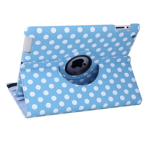 iPad 360 Polka Dot Case - Blue | Free Shipping