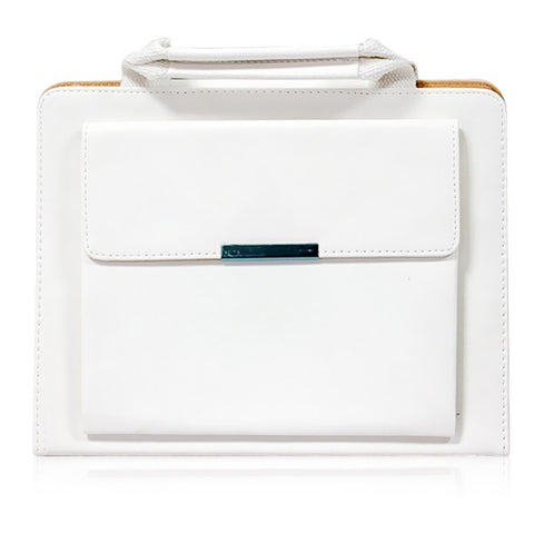 ipad faux leather handbag - white | Free Shipping