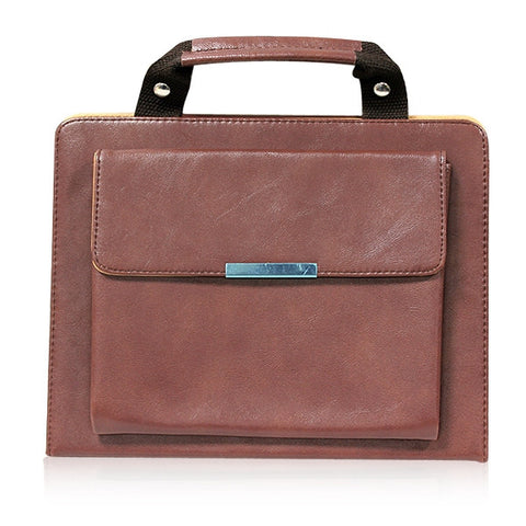 ipad faux leather handbag - brown | Free Shipping