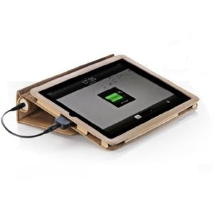 iPad Veho Pebble Leather Battery Case - Tan | Free Shipping
