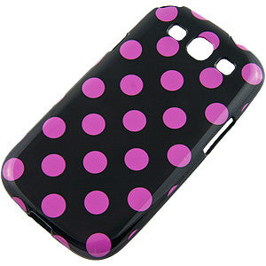 Samsung Galaxy S3 Polka Dot case- Black/Purple | Free Shipping