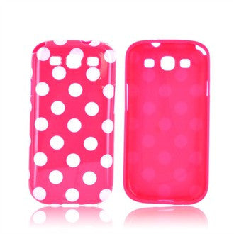 Samsung Galaxy S3 Polka Dot case - Pink/White | Free Shipping