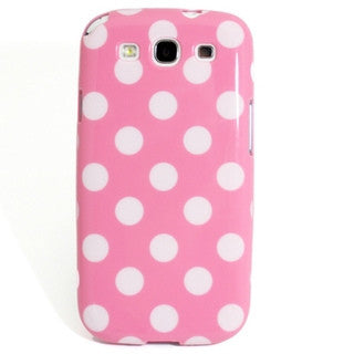 Samsung Galaxy S3 Polka Dot case - Light Pink/White | Free Shipping