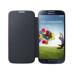 Samsung S4 Flip Book Case - black | Free Shipping