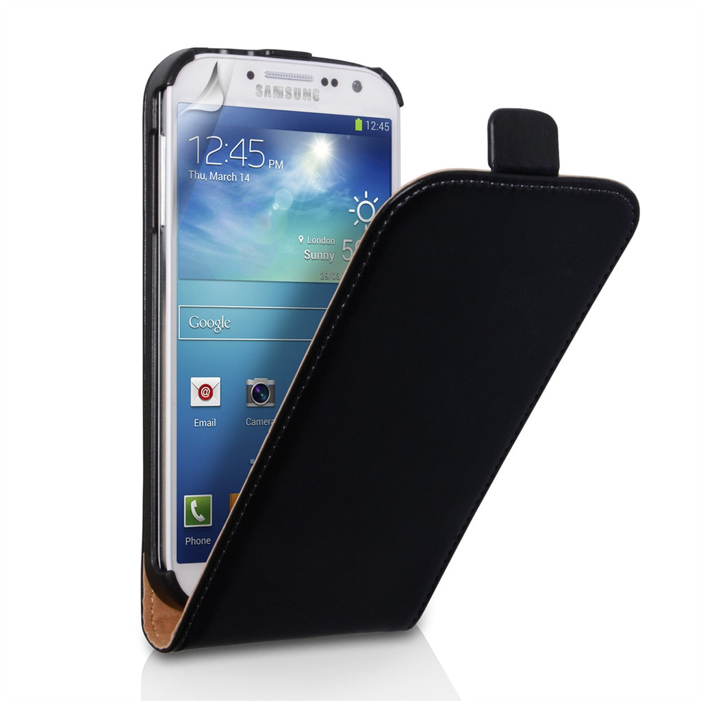 100% authentic 0192d 1e405 Samsung Galaxy S4 Flip Leather - Black