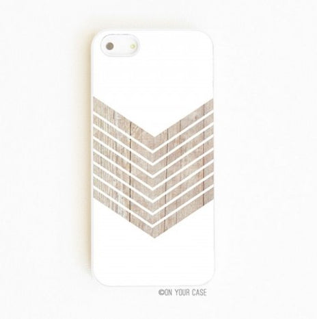 On Your Case iPhone 5/5S Case Wood Geometric White Minimalist | Free Shipping