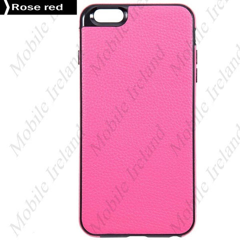 Slim leather iPhone 6 Plus Case - Pink | Free Shipping