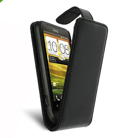 HTC One (M7) flip leather case - Black | Free Shipping