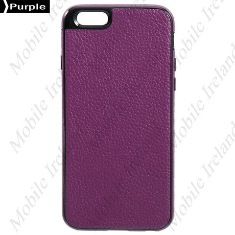 Slim leather iPhone 6 Case - Purple | Free Shipping