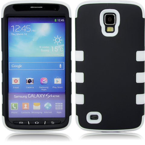 Samsung S4 Dual layer case - Black/white | Free Shipping