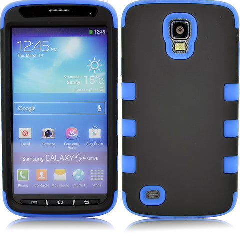 Samsung S4 Dual layer case - Black/blue | Free Shipping