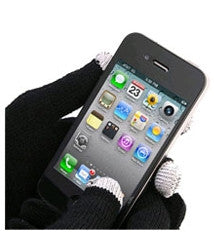 Smart Phone Gloves - Black | Free Shipping