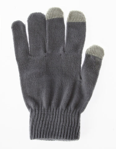 Smart Phone Gloves - Grey | Free Shipping