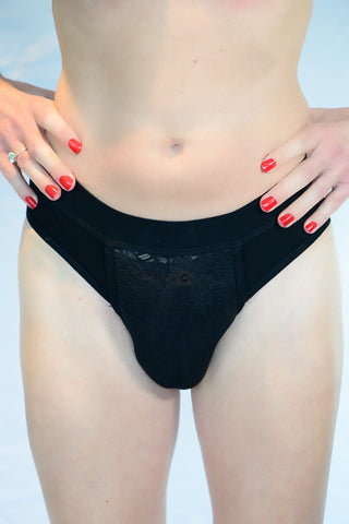Panties with foam vagina