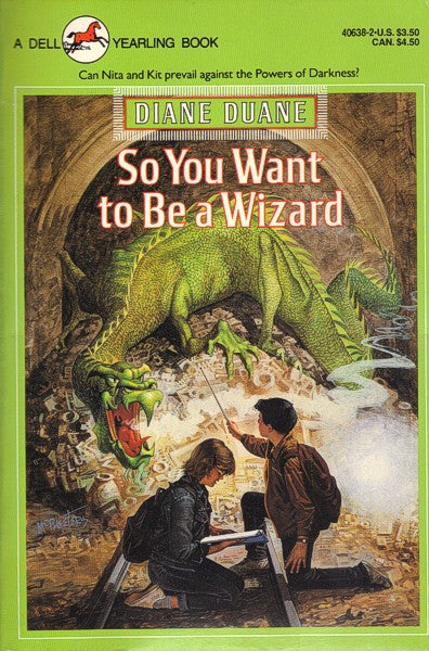 So You Want To Be A Wizard (Dell Yearling paperback), final mint/excellent copies