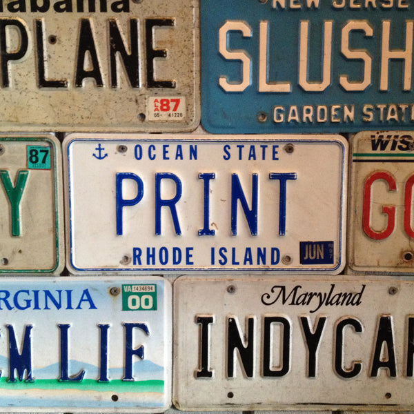 print license plate