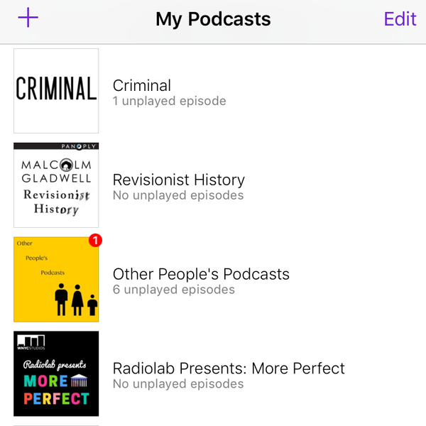 my podcasts